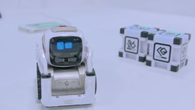 Small cute robot stock video footage