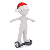 Small 3D Man is celebrating Christmas Royalty Free Stock Photography