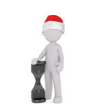 Small 3D Man is celebrating Christmas Stock Photos