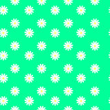 Small daisies on a green background, seamless pattern Royalty Free Stock Image