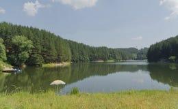 Small dam in beautiful mountain Plana Stock Photography