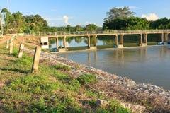 Small dam. Stock Photos