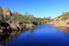Bear Creek Reservoir in Pinnacles National Park, California royalty free stock photos