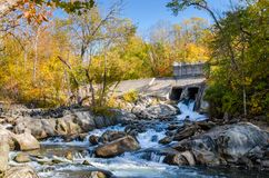 Small Dam for Electricity Generation Royalty Free Stock Images