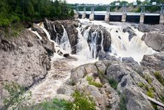 Free Small Dam In Quebec. Royalty Free Stock Images - 112130169