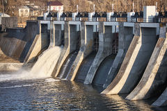 A small dam. stock photo