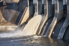 A small dam. royalty free stock photography