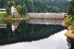 A small dam and power plant Stock Photography