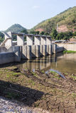 Small dam in river, Dike in asia Royalty Free Stock Images