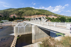 Small dam in river, Dike in asia Stock Photos