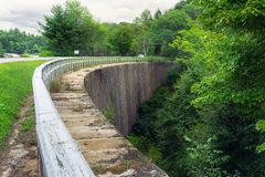 Small dam in rural Ontario countryside royalty free stock images
