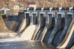 A small dam. royalty free stock photos