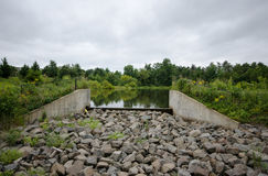 Small Dam Royalty Free Stock Photos