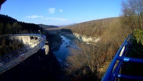 Small dam stock footage