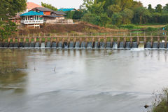 The small dam. Royalty Free Stock Image