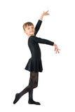 The small dancer. In a black dress Royalty Free Stock Images