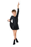 The small dancer. In a black dress Stock Photo
