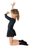 The small dancer. In a black dress Stock Photography