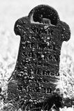 Child Small and Dark Headstone Stock Photos