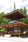 Small Dark Red Temple on Mount Kōya Royalty Free Stock Images