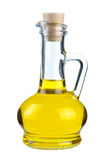 Small decanter with olive oil Royalty Free Stock Images