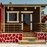 Small Decorated caravan Stock Photo