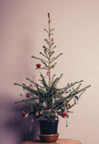 Small decorated christmas tree Royalty Free Stock Photography