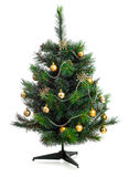 Small decorated christmas tree isolated Royalty Free Stock Photo