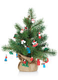 Small decorated christmas tree Royalty Free Stock Photos