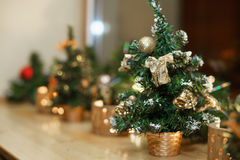 The small decoration Christmas tree. The small Christmas tree decoration Stock Photography
