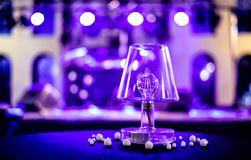 Decorative lamps with LED bulb on the desk royalty free stock photo