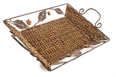 Small decorative basket Stock Photos