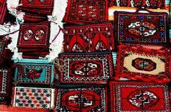 Small decorative carpets. Turkmenistan. Ashkhabad market Stock Photo