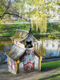 Small decorative chinese house in Bastejka park Royalty Free Stock Image