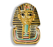 Small decorative Egyptian statue. Small decorative statue from Egypt showing an Egyptian Pharaoh Royalty Free Stock Photos