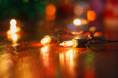 Small decorative lights. In festival Royalty Free Stock Photos