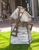 Small decorative windmill. Royalty Free Stock Photography