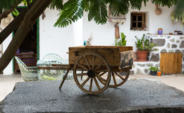 Small decorative wooden carriage in Betancuria on Fuerteventura Stock Images