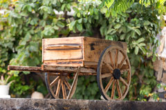 Small decorative wooden carriage in Betancuria on Fuerteventura. Royalty Free Stock Images