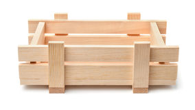 Small decorative wooden crate Stock Photos