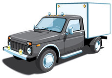 Small delivery truck Stock Image