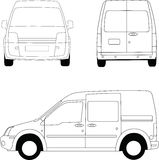 Small delivery van Royalty Free Stock Photo