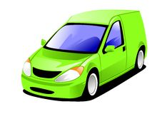 Small Delivery Van. 2d Illustration of a modern small delivery van Stock Photos