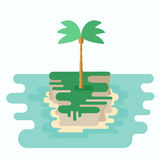Small Desert Island Royalty Free Stock Images