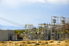 Small Desert Power Plant Royalty Free Stock Photos
