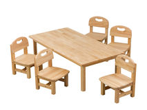 Small desk and chairs for kids Stock Image
