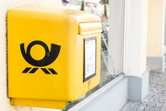 Small Deutsche Post mailbox Royalty Free Stock Photos