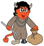 Small devil with sack. Vector illustration Royalty Free Stock Photos