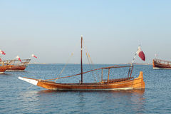 Small dhow in Doha Bay Royalty Free Stock Image