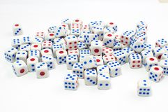 Small dice Royalty Free Stock Photos